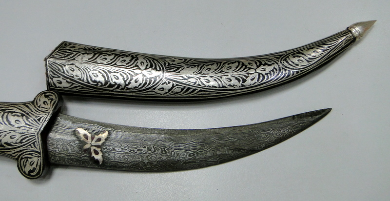 Details About Damascus Steel Blade Knife Dagger Pure Silver Wire Work Letter Opener Xmas